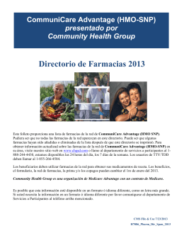 Pharmacy Directory - Community Health Group
