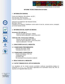 INFORME TÉCNICO MEDICIÓN DE RUIDO 1