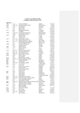 récords nacionales junior de todos los países del mundo