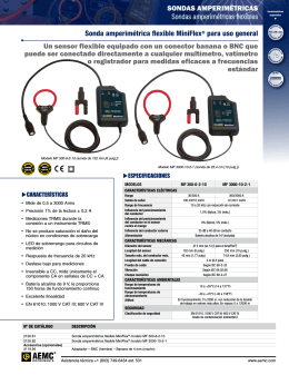SONDAS AMPERIMÉTRICAS Sondas amperimétricas flexibles