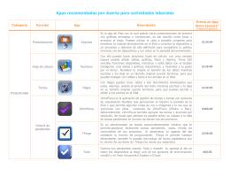 Apps recomendadas por Aserta para actividades laborales