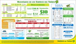 Resultados de los Sorteos del Trébol $ 16.9