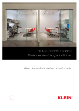 Glass office fronts