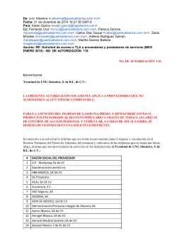 RAZON SOCIAL DEL PROVEEDOR 1 AP Marketing SA de CV