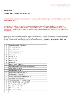 # RAZON SOCIAL DEL PROVEEDOR 1 A.P. Marketing SA de CV 2