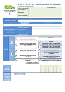 solicitud de gestión de oferta de empleo - Emprender en Castilla
