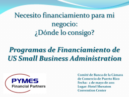 Programas de Financiamiento de US Small Business Administration