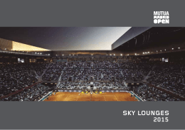 SKY LOUNGES - Mutua Madrid Open