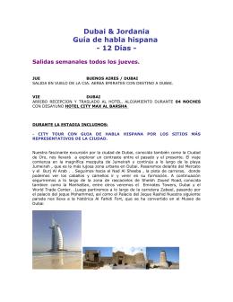 Dubai & Jordania Guía de habla hispana - 12 Días -