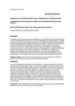 Hidroxiurea en el tratamiento de niños y adolescentes con