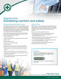 Ergonomics: Combining comfort and safety