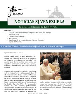 Noticias SJ 15 de Febrero 2013