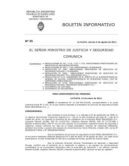 Nº 55 - Ministerio de Seguridad