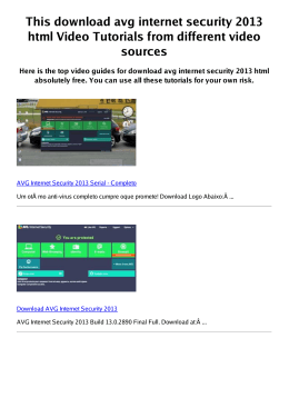 #Z avg internet security 2013 html PDF video