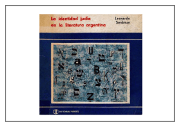 La identidad judía en la literatura argentina