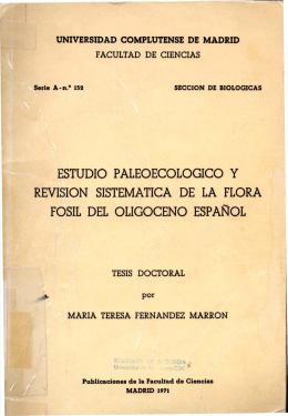 ESTUDIO P ALEOECOLOGICO y REVISION