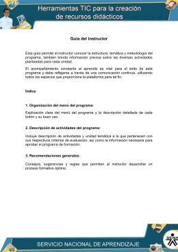 Guía del instructor TIC (nueva ventana)