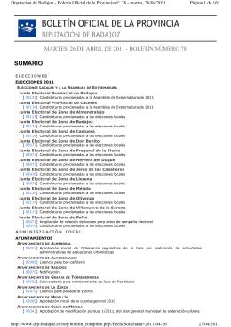 BOLETÍN OFICIAL DE LA PROVINCIA DIPUTACIÓN DE BADAJOZ