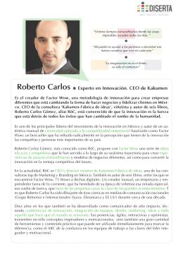 Roberto Carlos Experto en Innovación. CEO de Kakumen