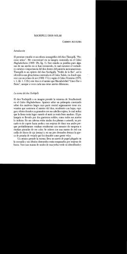 XOCHIPILLI DIOS SOLAR Introducción El presente estudio es un