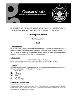 Guanajuato Suena - Instituto de la Juventud Guanajuatense