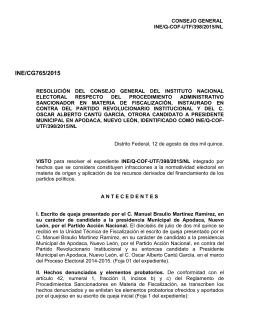 Punto 2.125 - Instituto Nacional Electoral