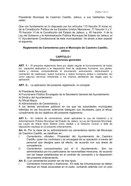 Presidente Municipal de Casimiro Castillo, Jalisco, a sus habitantes