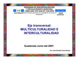 Presentación: Eje transversal Multiculturalidad e Interculturalidad