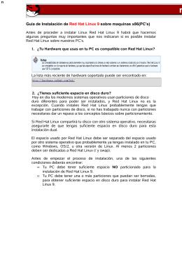 Guía de Instalación de Red Hat Linux 9 sobre maquinas