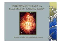 entrenamiento para la maestria en karuna reiki