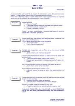 REBELDES - Materiales de Lengua y Literatura