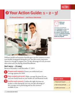 Your Action Guide: 1 – 2 – 3!