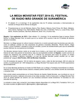 la mega movistar fest 2014 el festival de radio más grande de
