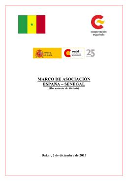 Marco de Asociación País España-Senegal 2014-2017