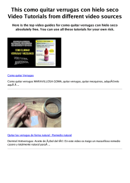 #Z como quitar verrugas con hielo seco PDF video books