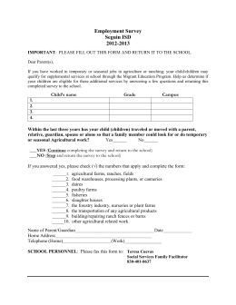 Employment Survey Seguin ISD 2012-2013