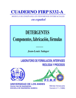 Detergentes - Laboratorio FIRP