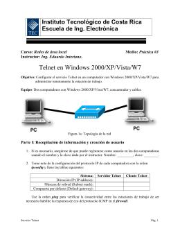 Telnet en Windows 2000/XP/Vista/W7