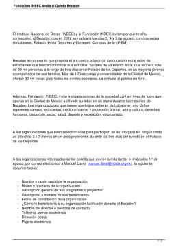 Fundación INBEC invita al Quinto Becatón