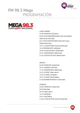 PROGRAMACIÓN FM 98.3 Mega