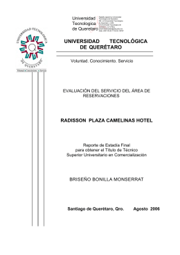 radisson plaza camelinas hotel - Universidad Tecnológica de
