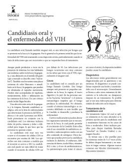 Candidiasis oral y el enfermedad del VIH