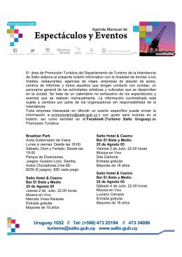 Agenda Julio 2015 - Salto a la Naturaleza