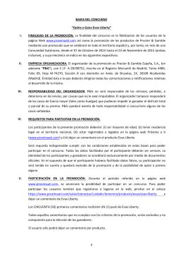 """BASES DEL CONCURSO """"Opina y Gana Evax Liberty"""" I"""
