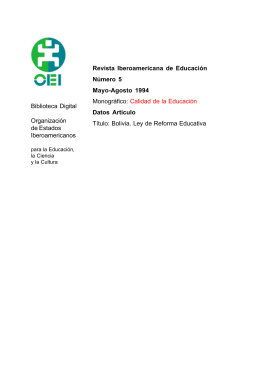 Formato PDF - Revista Iberoamericana de Educación