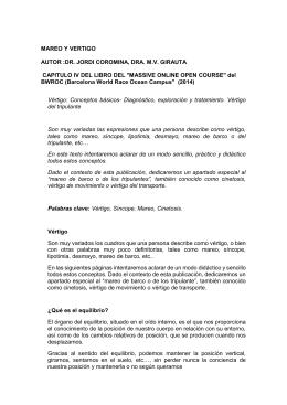 Mareo y vértigo - Dr. Jordi Coromina