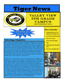 Tiger News - Valley View 5th Grade Campus