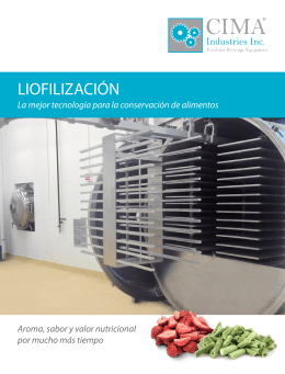 LIOFILIZACIÓN - CIMA® Industries Inc.