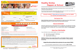 Healthy Smiles Happen at School