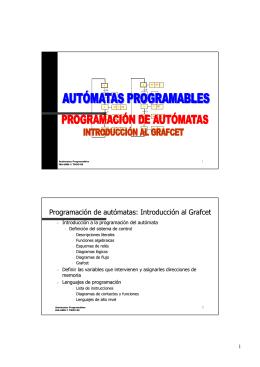 Programación de autómatas: Introducción al Grafcet